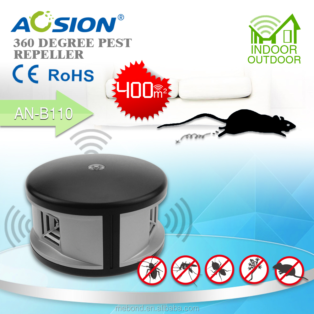 Aosion Widely use 360 degree ultrasonic electric pest expeller,electronic pest control devices