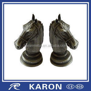 cheap wholesale die casting horse head figurine in metal