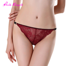 Free sample seamless wine red lace g string thongs japanese nylon panty
