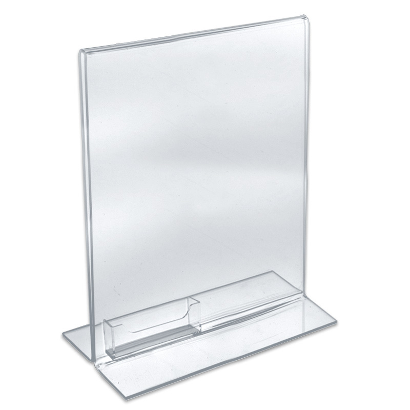 Custom Double Sided Upright Clear Acrylic Poster Holder Plexigl Literature Display Stand