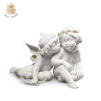 Hand carved marble standing children statue and sculpture NTMF-BSI015