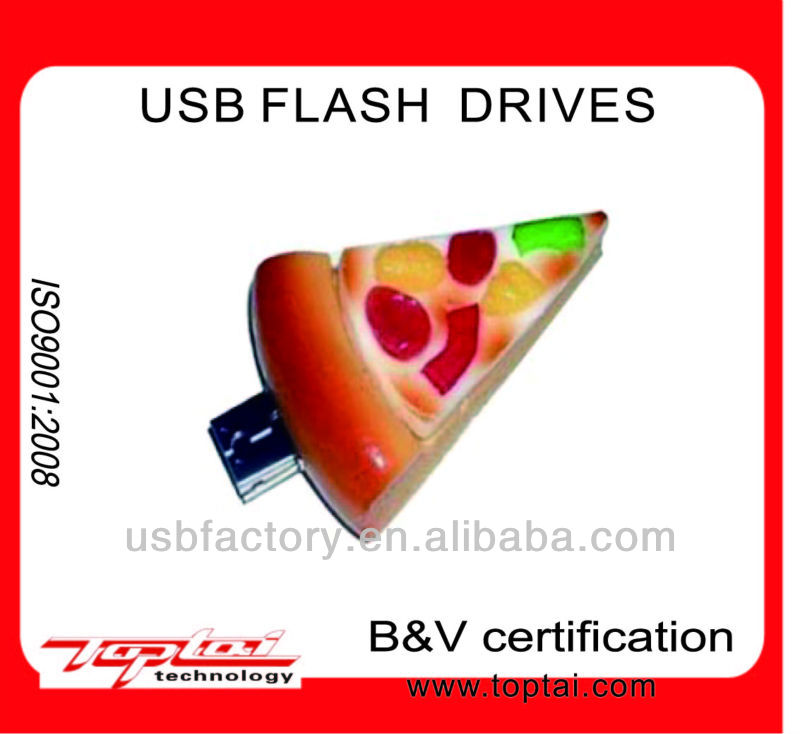 food/pizza usb drive with high speed mass storage supplier