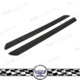 2pcs Carbon Fiber Material Car Scuff Plate Door Sill Cover Protector Plates For Universal Cars