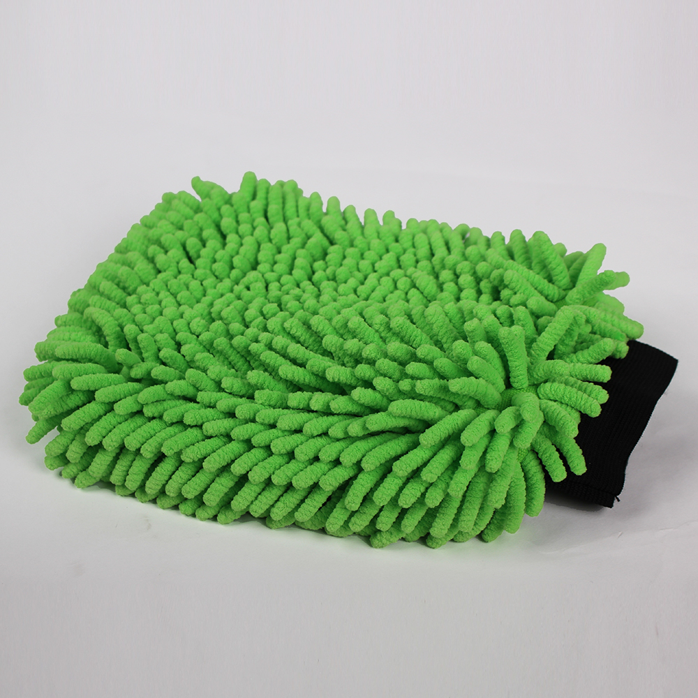 Microfiber Absorbent chenille car cleaning wash mitt dusting