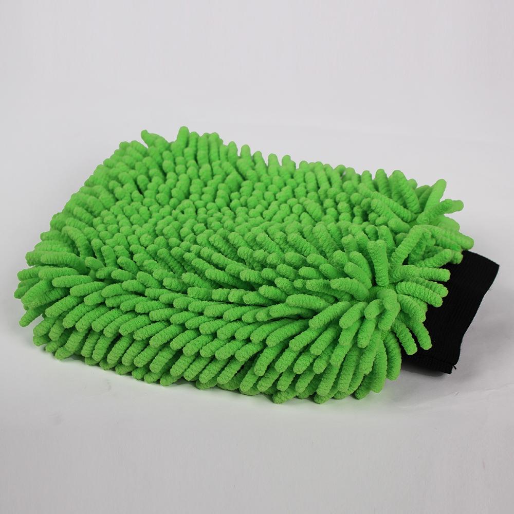 Luva da lavagem de microfibra Absorvente limpeza do carro chenille sova