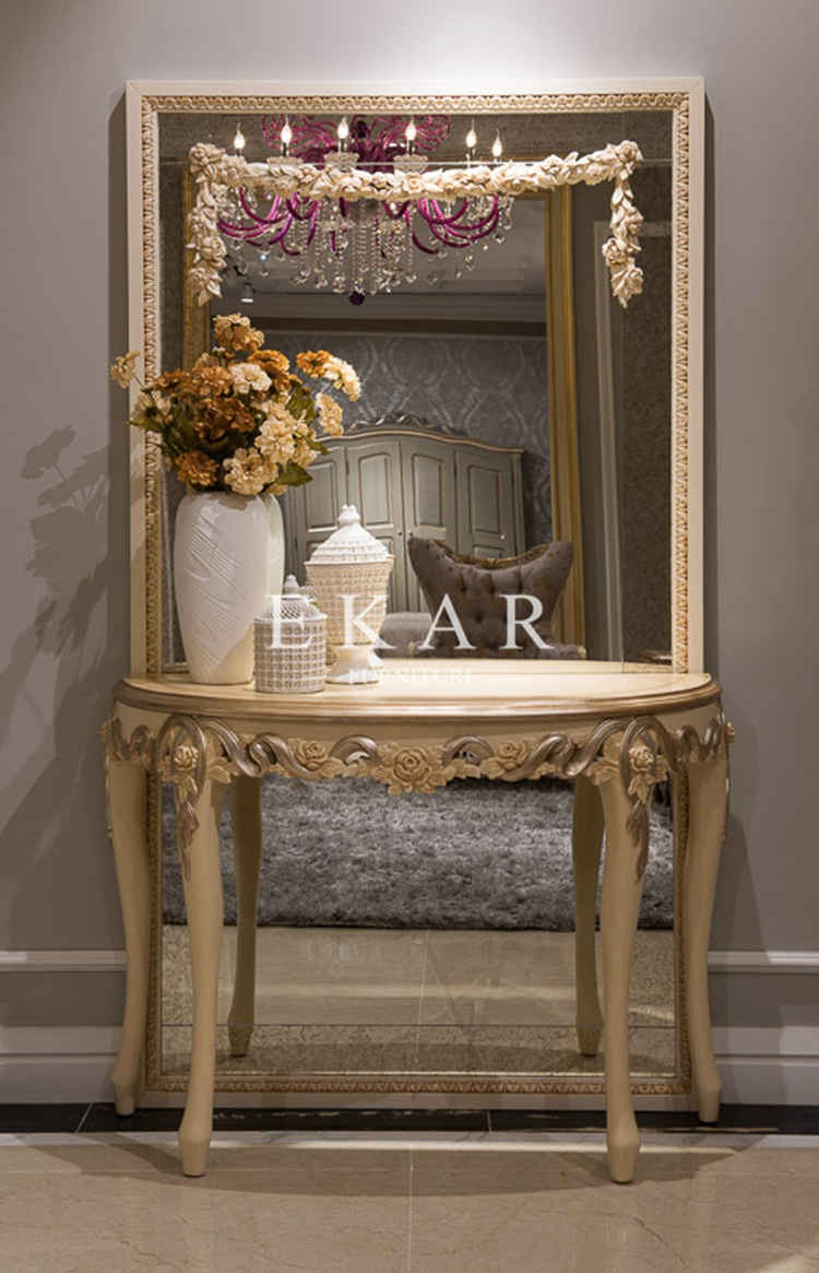 wooden cabinet wall console table acrylic round entrance table  - wooden cabinet wall console table acrylic round entrance table half moon consoletable
