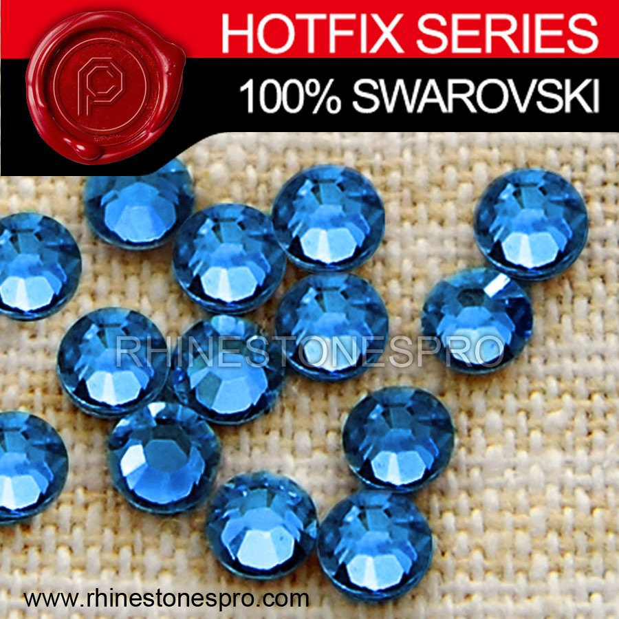Fashion Dress Swarovski Elements Sapphire (206) 6ss Crystal Iron On Stone