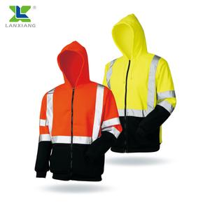 LX902 High Visibility Reflective fleece safety jacket