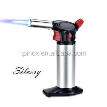 gas butano Recargable Soplete Encendedor Antorcha de golpe llama ajustable