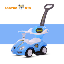 Cheap price parent push bar light and music plastic baby ride on toy car