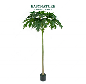 easynature only artificial tree 1.8m 6ft papayatree carica papaya Caricaceae papaw plastic plant 2019