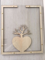 Wedding Guest Book, Drop in Guest Book,Wedding Photo Frame