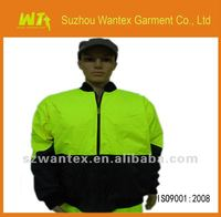 TOP Men's waterproof and windproof safety yellow work wear