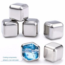 FDA food 급 RED wine Stainless Steel 304 위스키 돌 ICE CUBE