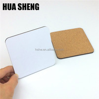 Sublimation blank MDF cork coaster 94x94mm