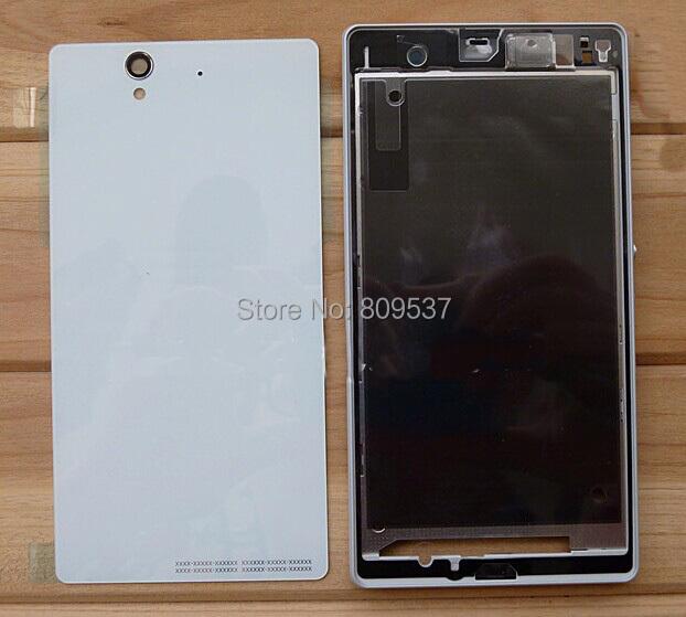 Для Xperia Z C6603 L36h полный корпус полный чехол с боковые кнопки белого