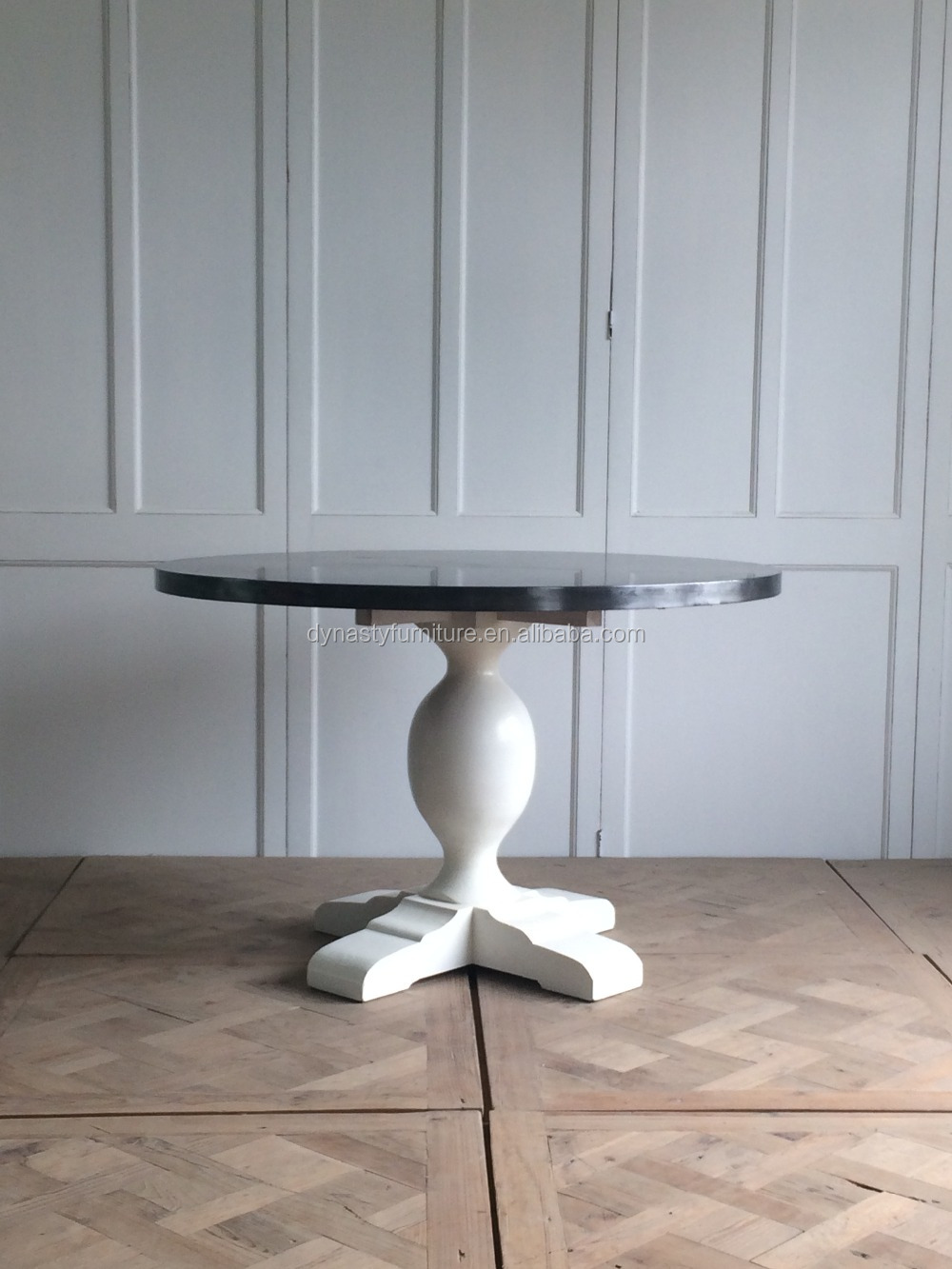 european classical zinc top round dining table for sale