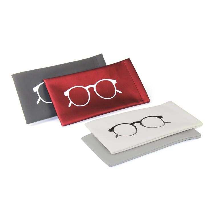 Clip pu leder sonnenbrille fall gläser verpackung box