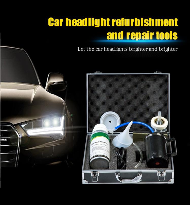 2019 EU Type Steam Headlight Headlamp Cleaner Headlight Restoration Kit