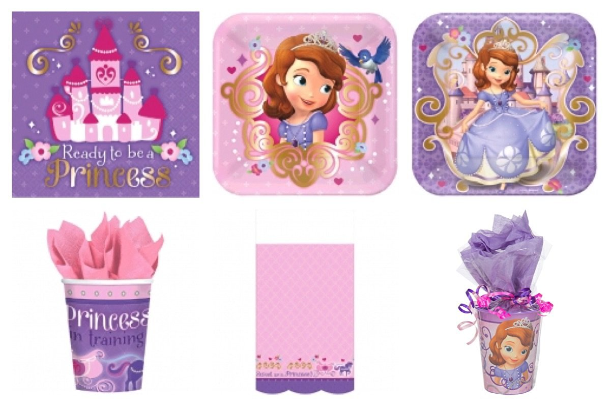 Disney Sofia The First Party Supplies Standard Kit for 16 *Free Gift*