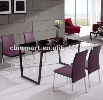 Beau Black And Purple Dining Table Set Table And Chairs Dining Set
