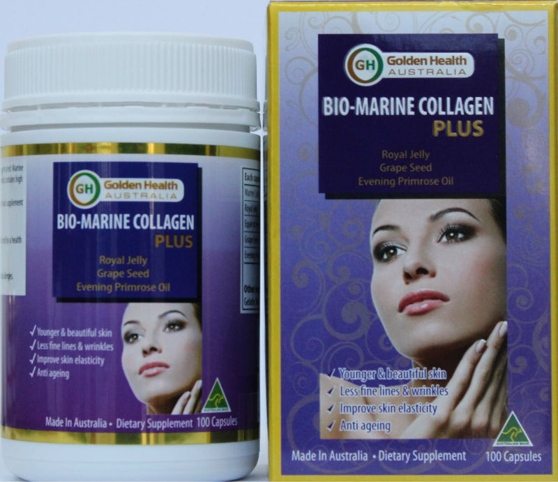 Golden Health Bio-Marine Collagen Plus - 100 Capsules (Australian made) dietary supplement