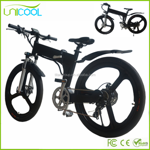 2017 New Unicool Electric Folding Mountain Bike Pedal DE Bike Pedelec