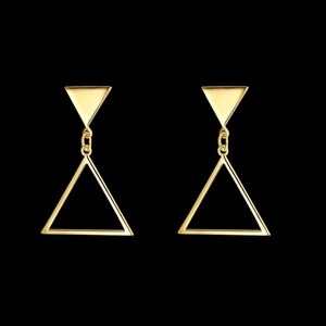 daily wear gold ear jewelry designs charm triangle stud earring
