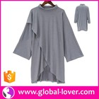 Grey Long Sleeve Turtleneck Images of Fancy Ladies Casual Tops Latest Design