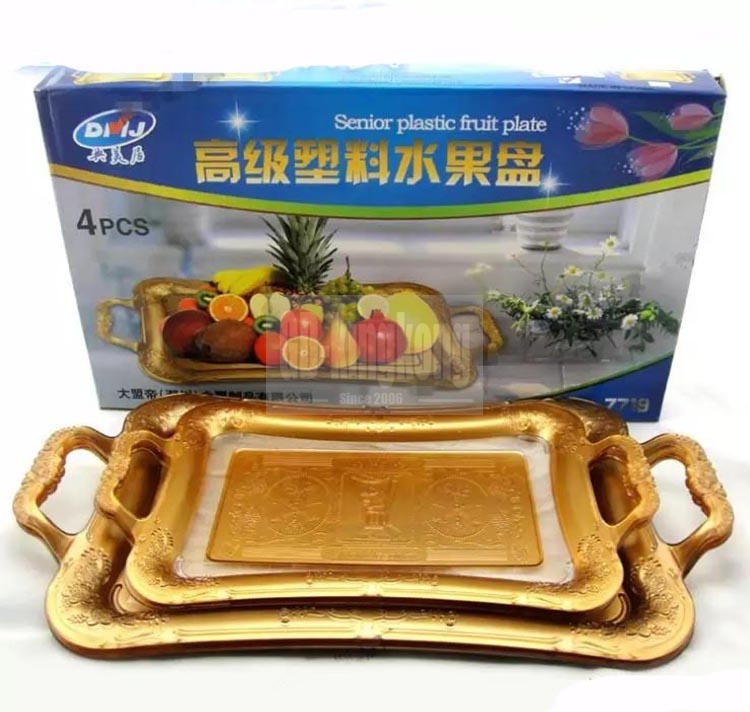 GUANGDONG KINGKONG Food dish plate 3pcs set  stainless steel fruit tray