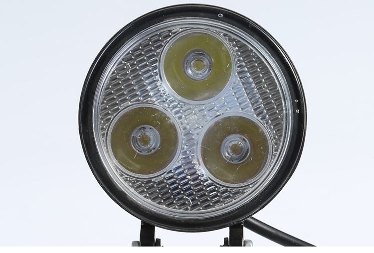 3 Inch led work lamp12-80V Round LED Spotlight Headlight For motor -truck