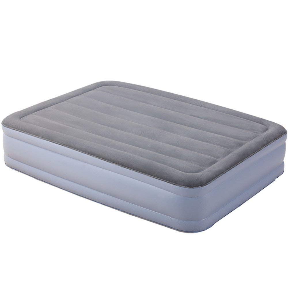 VGHJK Inflatable Bed Height Built-in Inflatable Pump Mattress Home Thickening Single Double Folding Portable Air Mattress,B