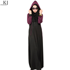 instant dry fabric two tone muslim everyday girl casual sport abaya with hood exercise muslim jilbabs