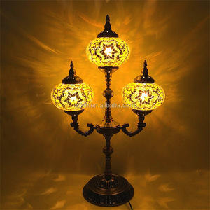 turkish handmade Stained Glass table lamp