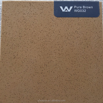 pure color quartz stone supplier-Brown WG032