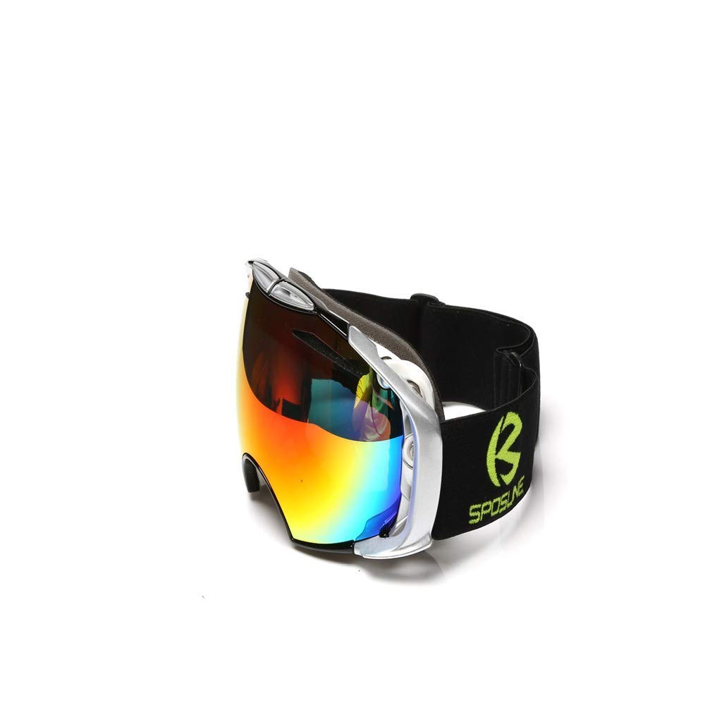 cc02cf5707 Get Quotations · FRFG Ski Sports Sunglasses Ski Goggles Glasses for Men and  Women Climbing Goggles Double Anti