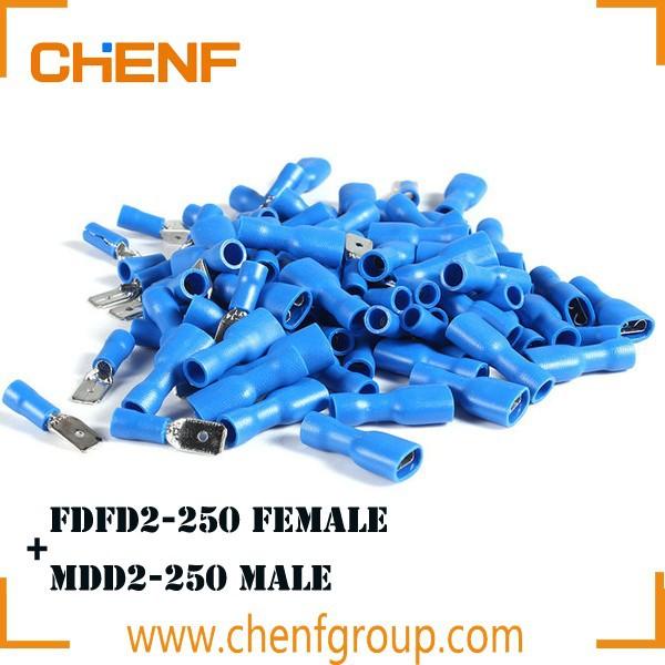 Insulated Blue Female Spade Terminal Connector Terminals Crimp Electrical C x 25