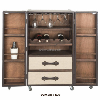 Wine Cabinet Steamer Trunk Bar