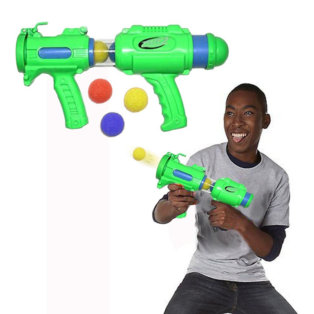 Toy Cubby 14 inches Blaster Blasting Foam Ball Space Shooter with 6 Foam Balls
