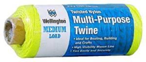 Wellington Cordage 46294 #18 x 525-Ft. Opti Yellow Nylon Seine Twine - Quantity 6