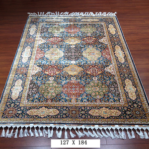 Luxury Hand Made Persian Design Pure Silk Carpet Chinese Made Hand Knotted Silk Rugs Home Carpet