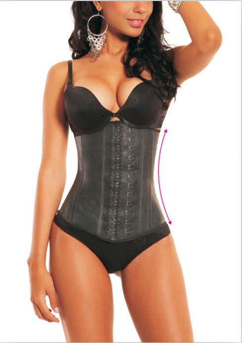 8bed85dd46 Get Quotations · Plus Size Latex Waist Cincher Hot Womens Waist Trainers  Stomach Shapers Girdles Waist Training Corset Slimming