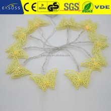 Proper price widely used butterfly shape fiber optic led string light