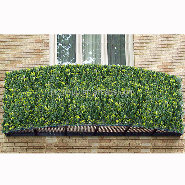 Customized artificial leaf fence wall building decoration plastic panel privacy landscape