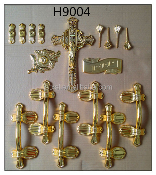 Coffin handles Model H9004 set with plastic material for coffin