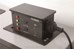 Conference Room Equipment Tabletop Universal Power Plugs And Sockets
