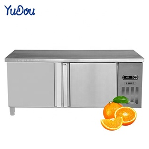 Smart Refrigerator Table Commercial Butchery Meat Refrigerator Stainless Steel Kitchen Equipment
