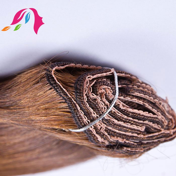 easy to use remy clip in human hair extensions