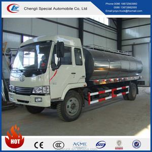 FAW manufacturer 210hp 8cbm milk tank transport truck for sale
