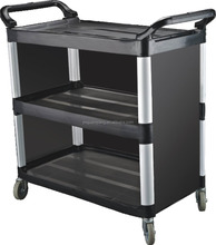 folding platform hand pull baffle-type utility cart food trolley cart service trolley